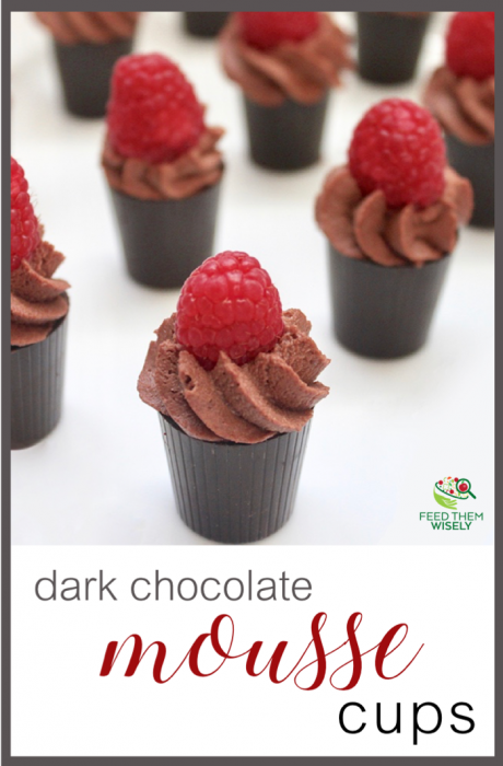 healthy dark chocolate mousse cups low added sugar