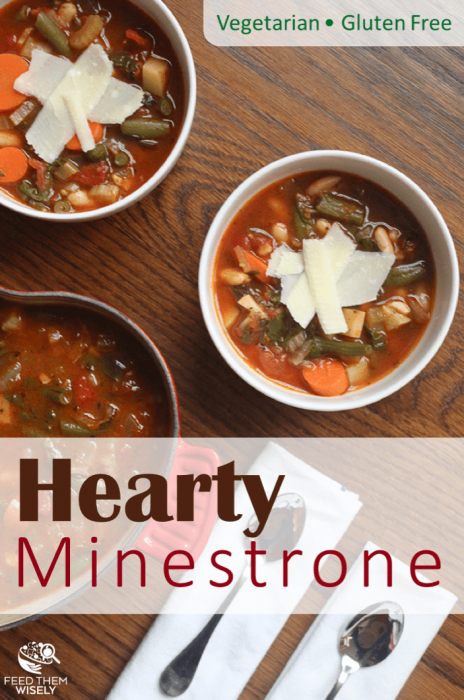 healthy and hearty gluten-free minestrone soup recipe that is packed with veggies