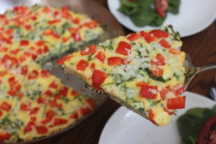 arugula, mushroom and red bell pepper frittata recipe