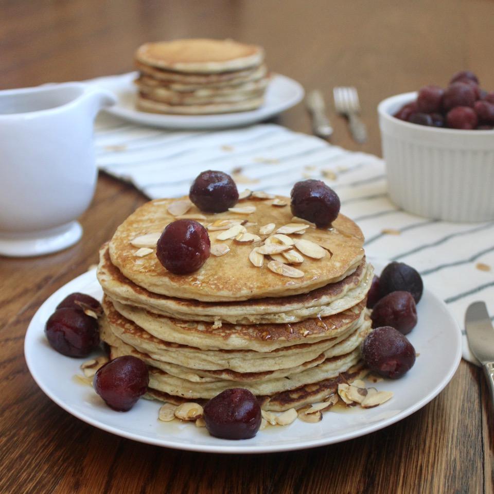Whole Wheat Almond Pancakes