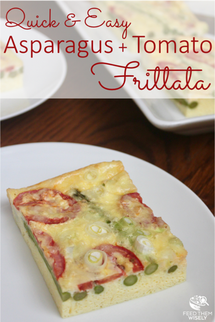 protein packed asparagus tomato frittata