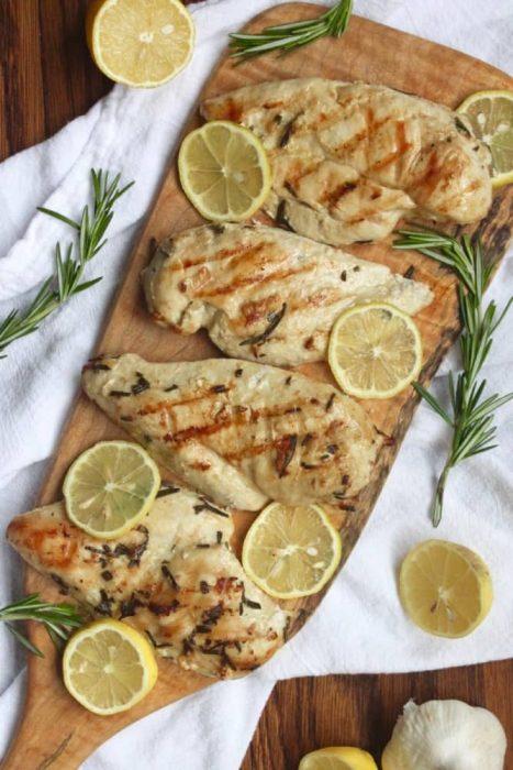 Grilled Lemon Rosemary Marinaded Chicken Recipe
