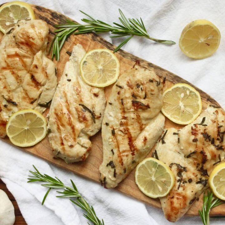 Grilled Lemon Rosemary Chicken {Whole30, Paleo}