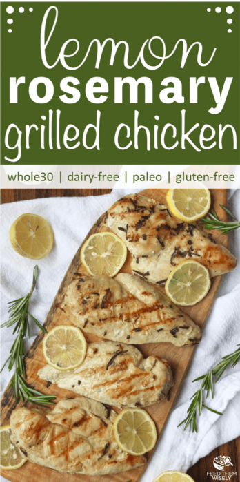 grilled lemon rosemary chicken recipe pin