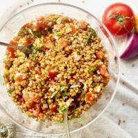 Wheat Berry Bruschetta Salad {Vegan}