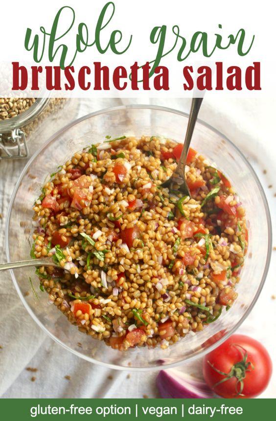 whole grain bruschetta salad