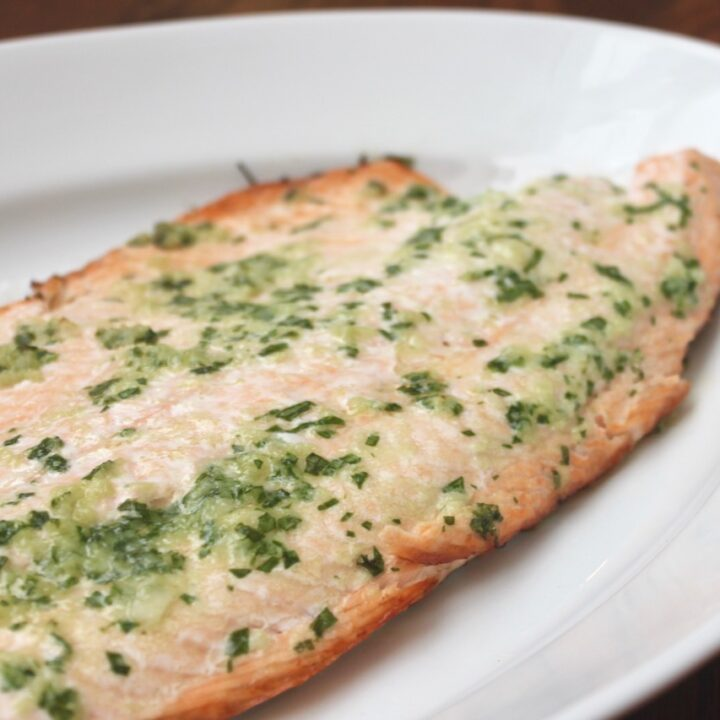 Grilled Salmon with Herbed Butter