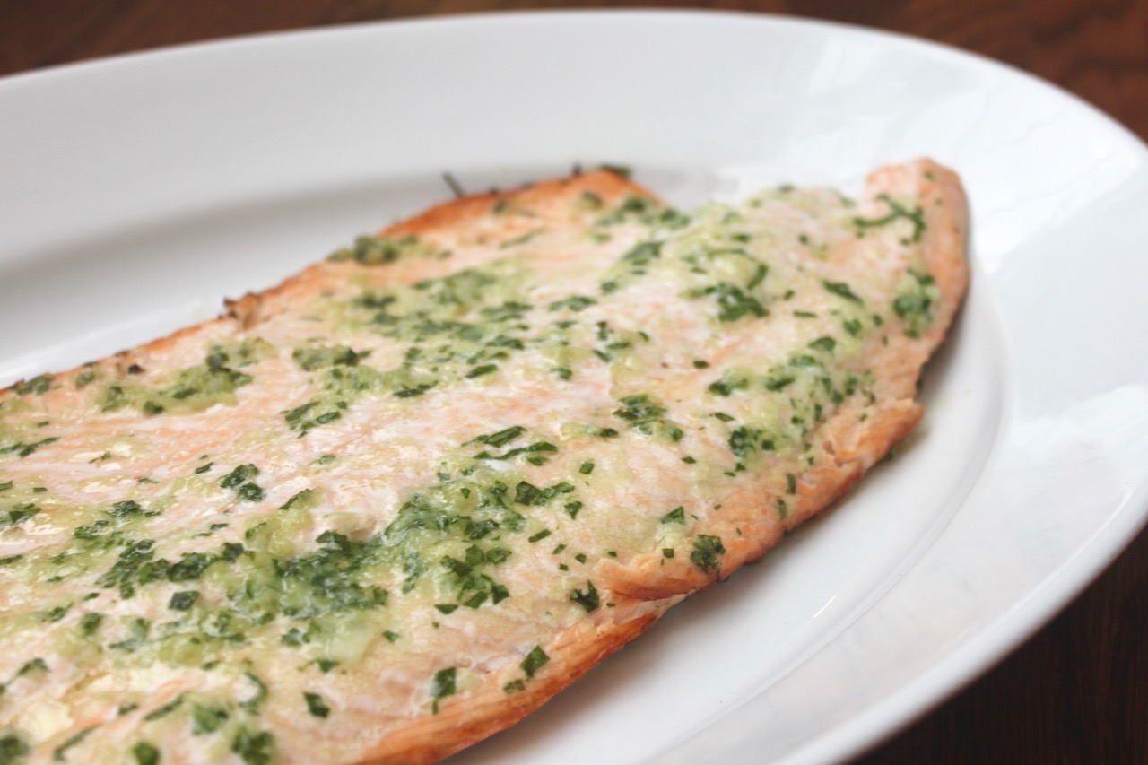 Grilled Salmon with Herbed Butter | Feed Them Wisely