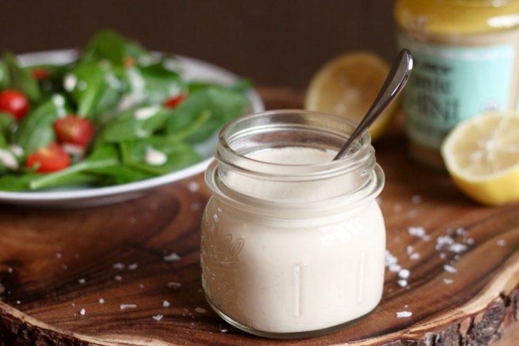 Vegan lemon tahini sauce that is Whole30 compliant and keto friendly