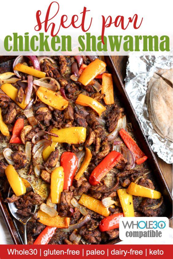 Sheet Pan whole30 chicken shawarma recipe