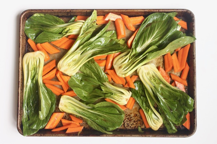 Paleo roasted Sesame Ginger Chicken and Vegetables