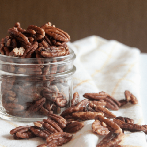 Toasted Maple Cinnamon Pecans {Vegan, Paleo}