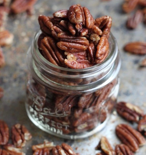 Vegan paleo candied pecans recipe