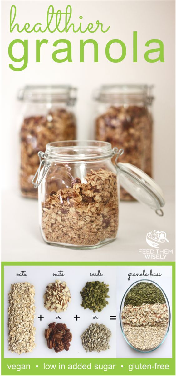 This healthy homemade granola recipe is packed with protein and low in added sugar.