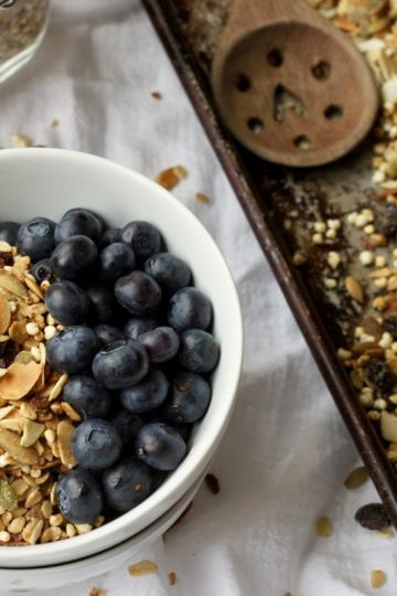 Healthy homemade granola recipe vegan gluten-free