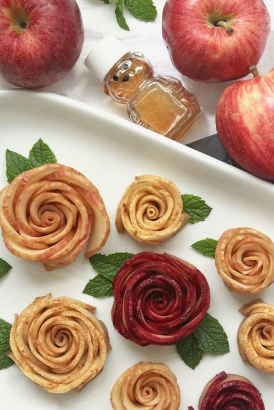 Easy to make baked honey apple roses are a delicious and beautiful simple dessert. {Dairy-free, Gluten-free, Paleo}