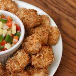 healthy popcorn shrimp recipe with whole wheat panko crumbs