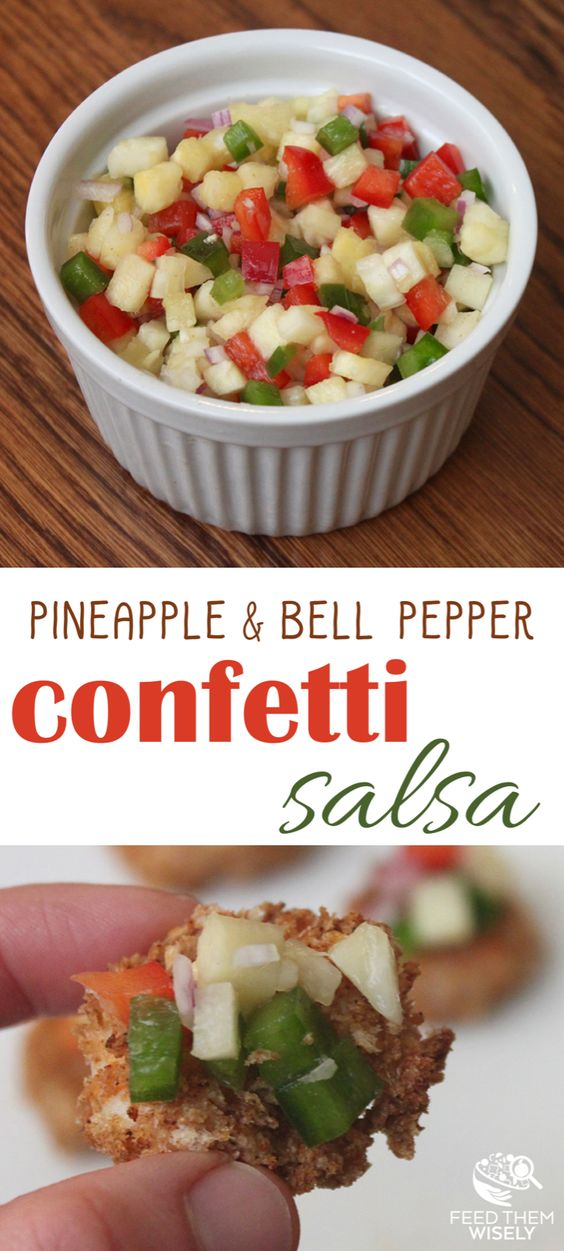 Paleo pineapple pepper confetti salsa recipe pin