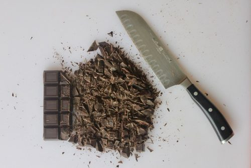 chop chocolate before quick tempering it in the microwave