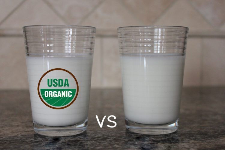 what is the difference between organic and conventional milk