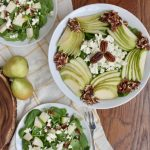 Spinach Pear Pecan Salad with boursin cheese recipe