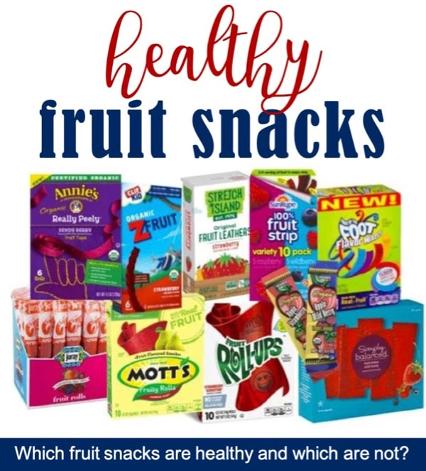 List of healthy fruit snacks