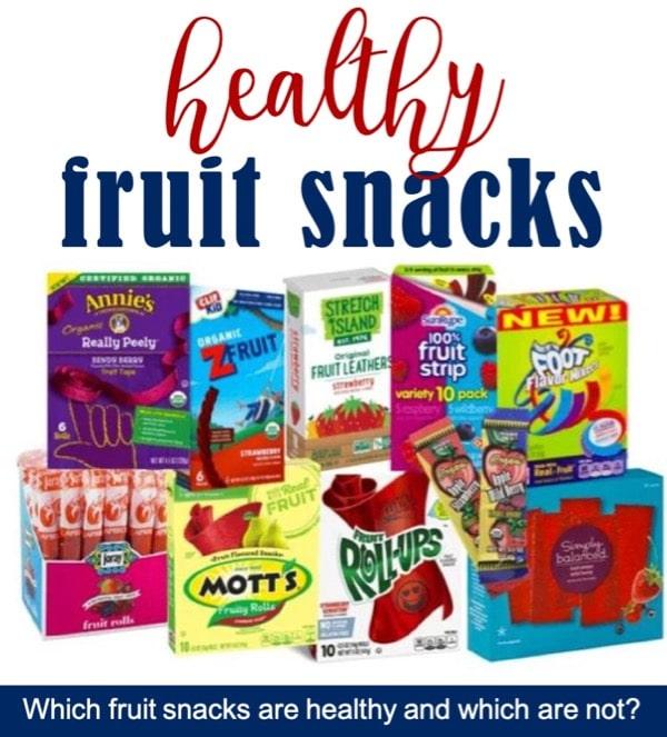 List of healthy fruit snacks