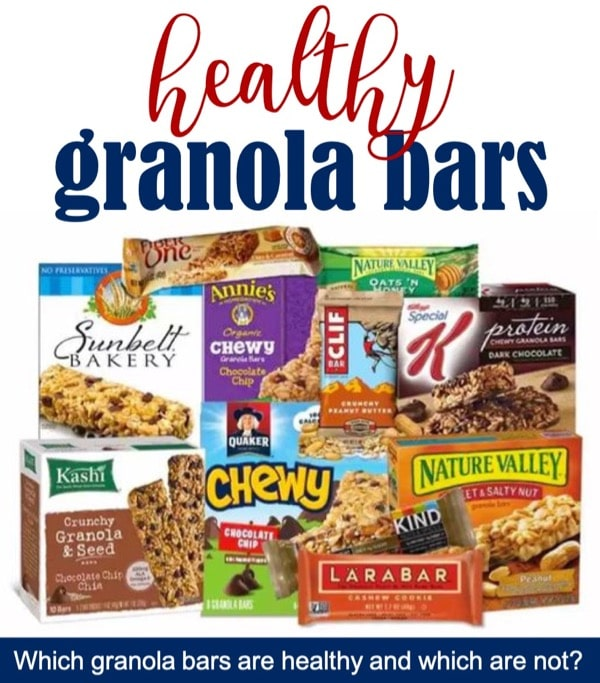 List of healthy granola bars