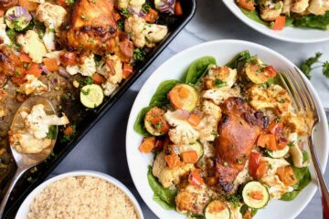whole30 turmeric chicken vegetable sheet pan