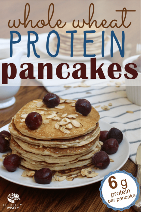whole wheat flour almond flour protein pancakes