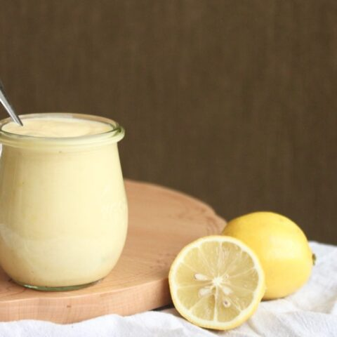 Lemon Custard {Dairy-Free}
