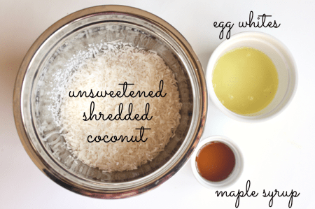 Healthy paleo coconut macaroon ingredients 2-min