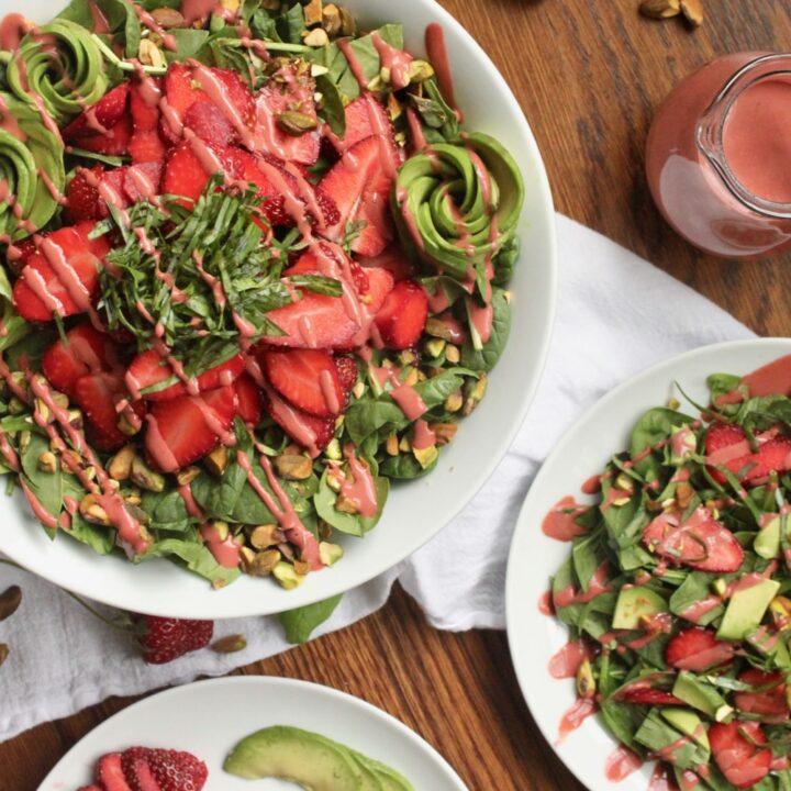 vegan strawberry avocado salad recipe