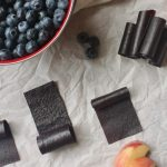 Oven Dried Blueberry Fruit Leather {100% Fruit}