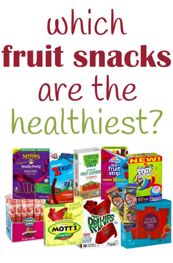 what fruit snacks are healthy