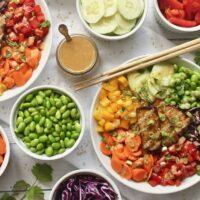 Crispy Tofu Rainbow Buddha Bowls {Vegan, Gluten-Free}