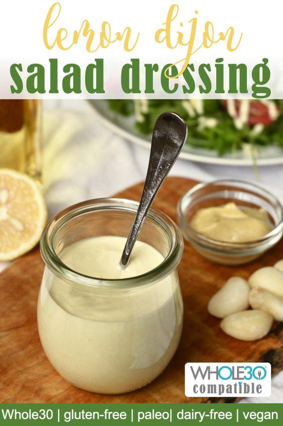 Whole30 lemon dijon salad dressing
