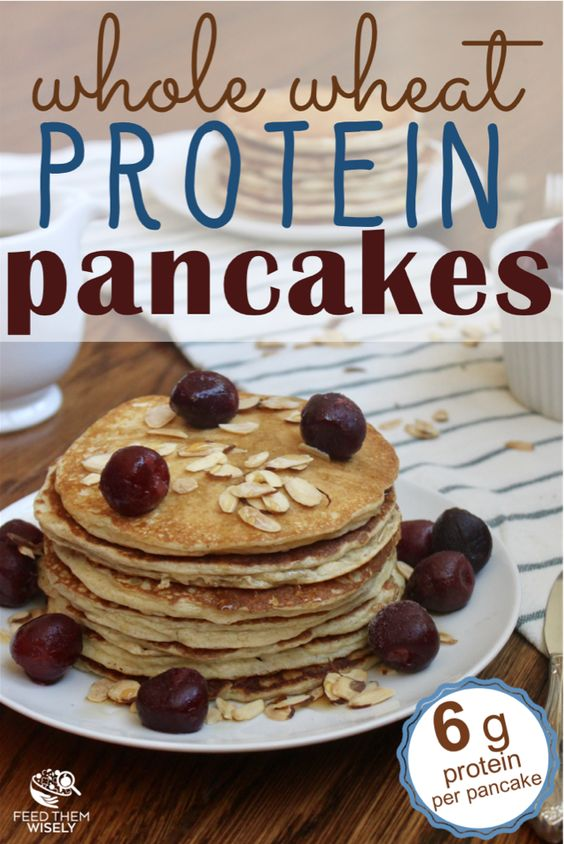 Whole wheat protein pancakes with almond flour recipe
