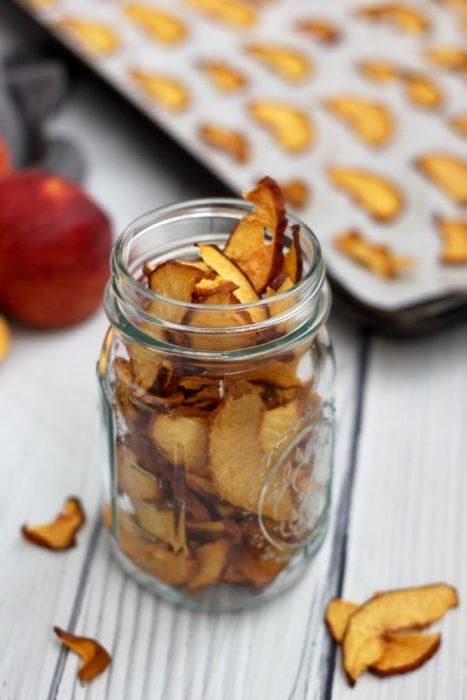 easy paleo oven dried peach chip recipe