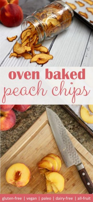 homemade easy to make oven baked peach chips