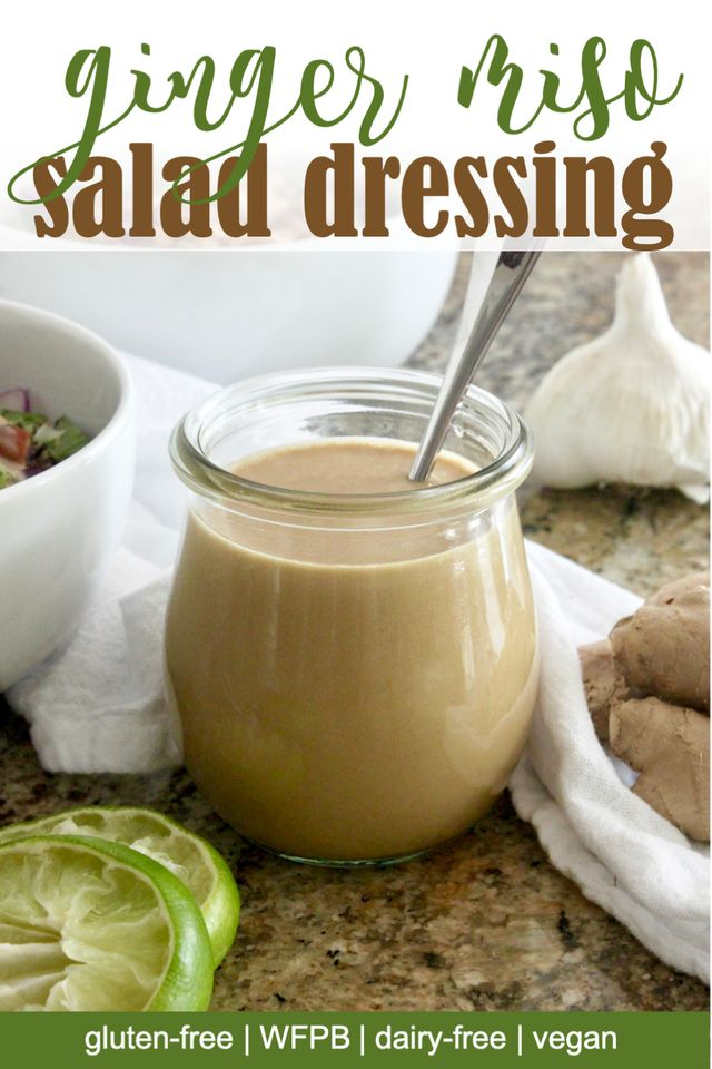 vegan Ginger miso salad dressing
