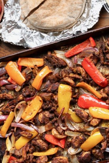 Easy whole30 chicken shawarma sheet pan dinner