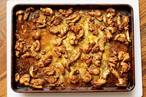 Oven roasted paleo chicken shawarma