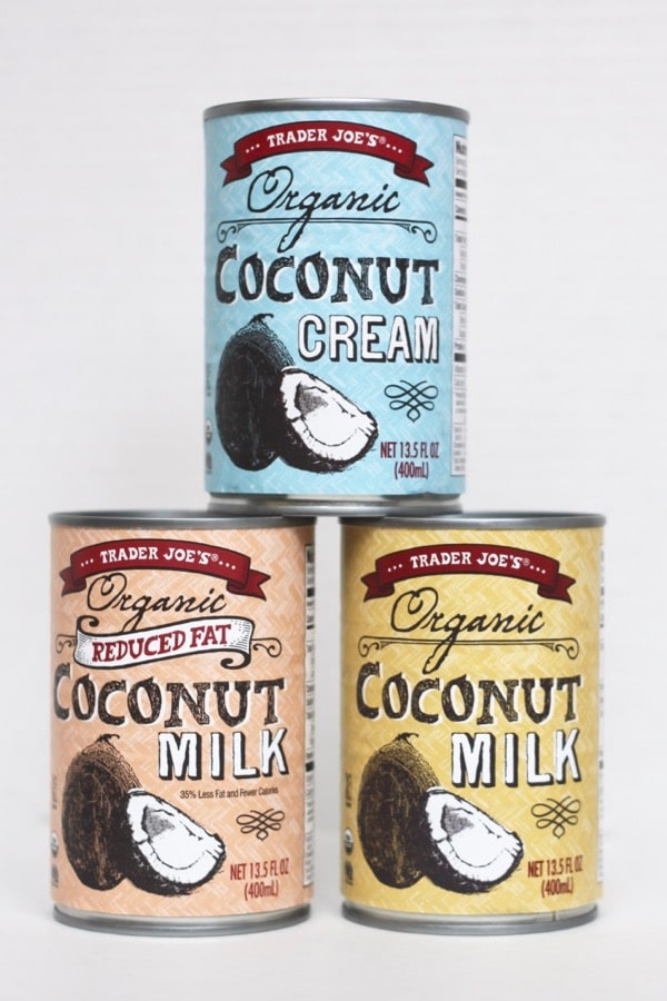 Trader Joe's coconut milk is free of additives