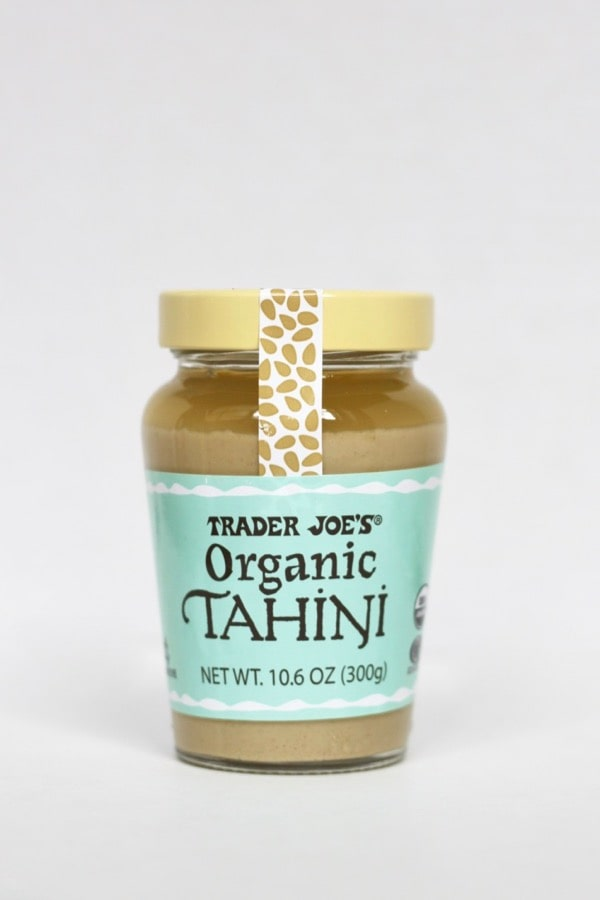 Trader Joe's organic tahini is packaged in glass