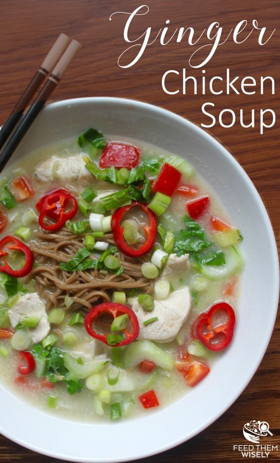 Coconut ginger chicken soup recipe that is whole30 compatible and paleo