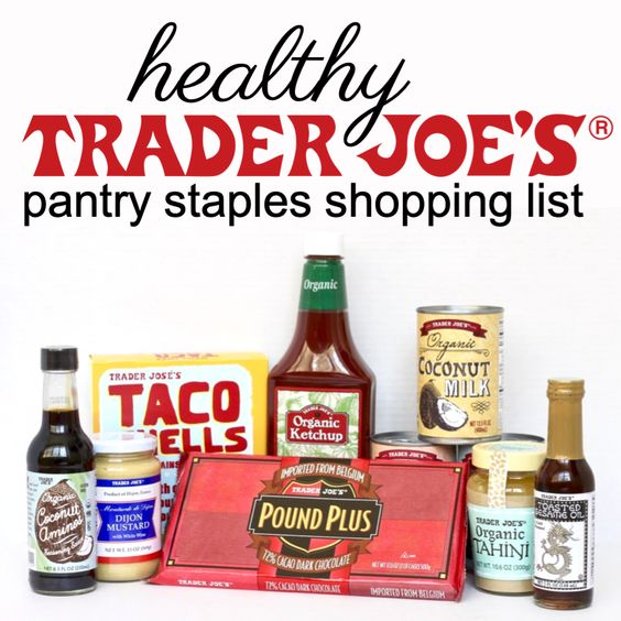 Healthy trader joes shopping list including gluten-free and dairy-free foods