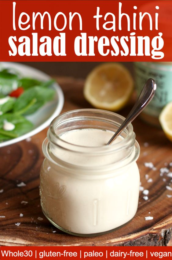 Vegan lemon tahini sauce recipe