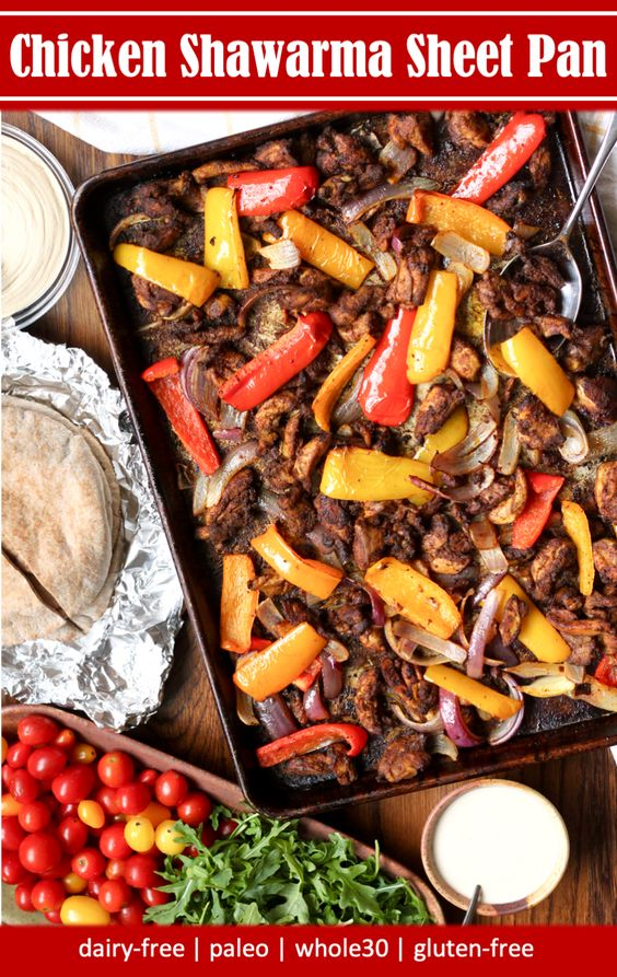 Sheet Pan whole30 chicken shawarma recipe