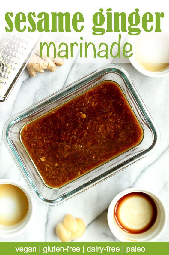 Vegan sesame ginger marinade recipe